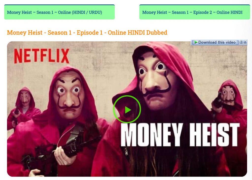 Money Heist All Seasons Download In Hindi