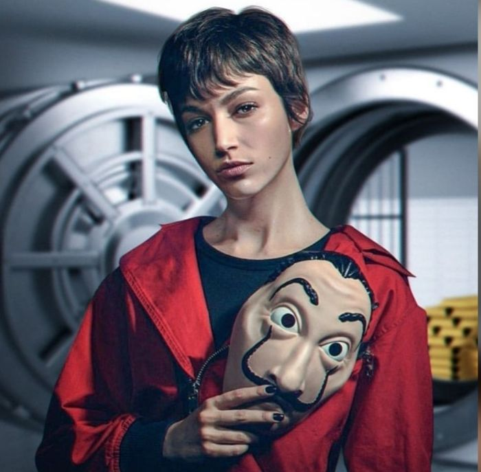 Ursula Corbero As Silene Oliveira (Tokyo) In La Casa de Papel - Money Heist Series